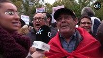 Banderas republicanas y consignas independentistas en la protesta convocada por Iglesias ante el Supremo