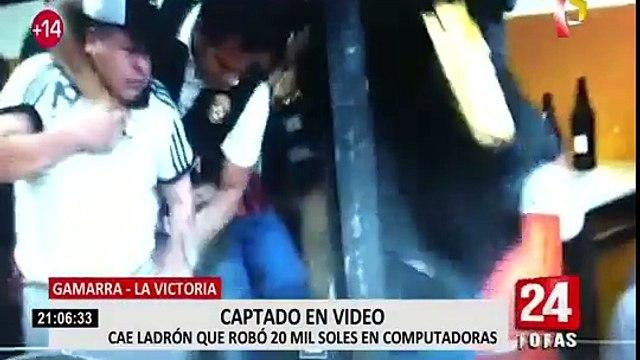 La Victoria: detienen a delincuente que robó galería en Gamarra