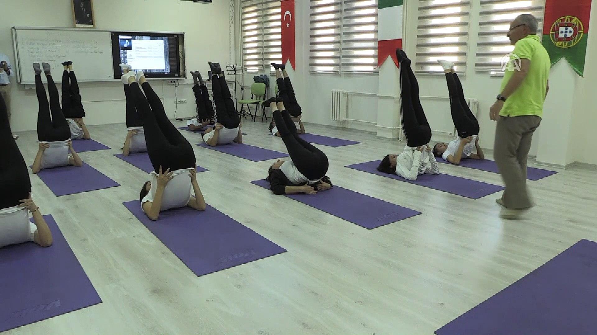 Öğrenciler sınav stresini 'yoga' ile yenecek - NİĞDE