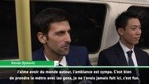Masters - Federer et Djokovic s'offrent du bon temps dans le métro londonien