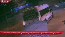 İzmir'de bir kadının hayatını kaybettiği kazanın görüntüleri ortaya