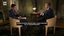 """Macron sur CNN: """"Les nationalistes ont une approche unilatérale basée sur la loi du plus fort"""""""