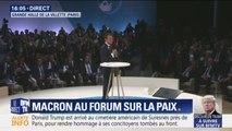"""Macron ouvre le Forum sur la paix pour réunir """"celles et ceux qui font le monde et qui peuvent le changer"""""""