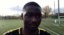 GAMBARDELLA U19 – Arouna CISSE (Lyon-Duchère AS) réagit après la qualification de son équipe au FC Villefranche
