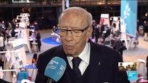 Interview de Beji Caïd ESSEBSI, président tunisien, au Forum sur la Paix à Paris