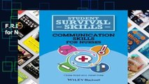 F.R.E.E [D.O.W.N.L.O.A.D] Communication Skills for Nurses (Student Survival Skills) [E.P.U.B]