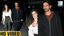 Arjun Rampal Caught With Rumoured Girlfriend Gabriella On A Dinner Date