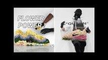 Avec des fleurs, cet artiste reproduit de célèbres baskets