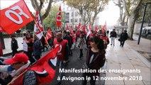 Manifestation des enseignants à Avignon