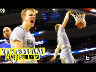 Mac McClung Takes Flight In Georgetown 2nd Game of The Season!