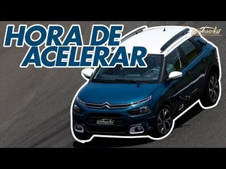 Citroën C4 Cactus na pista! Rubinho acelera forte o novo SUV na Volta Rápida #158   Acelerados