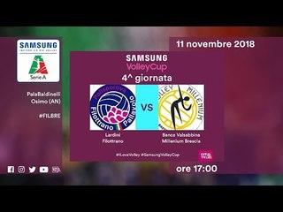 Filottrano - Brescia   Speciale   4^ Giornata   Samsung Volley Cup 2018/19