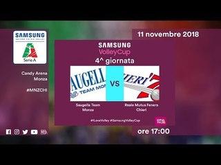 Monza - Chieri   Speciale   4^ Giornata   Samsung Volley Cup 2018/19
