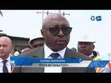 RTG/Le Ministre des travaux publics sur le chantier de réhabilitation des  voies PK5-PK12