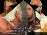 ric flair vs hhh this monday live raw
