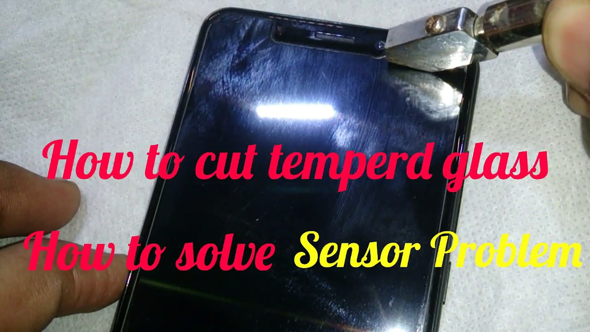- How to - cut - temperd - glass - how to - solve - sensor - Problem- how to - fix - proximity - sen