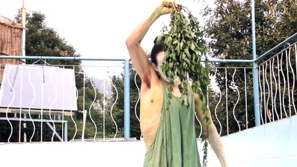 Becoming-Nettle   Butoh Performance With Fresh Stinging Nettles