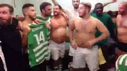 Célébration de la victoire des Séniors B contre Léognan - 11/11/2018