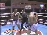 Two boxers are fighting funny
