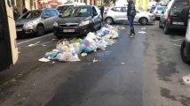 Laeken : Excédés, commerçants et riverains de la rue Marie-Christine à Laeken balancent leurs poubelles en rue