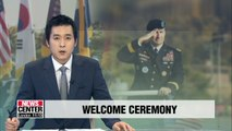 S. Korea's Joint Chiefs of Staff welcomes new commander of UNC, CFC, USFK Gen. Abrams with honor guard