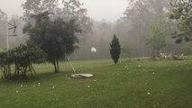 Printemps en Australie : des grêlons impressionnants tombent du ciel