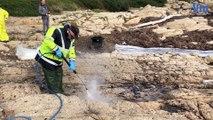 Nettoyage pollution plage Ramatuelle