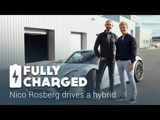 Nico Rosberg drives a hybrid