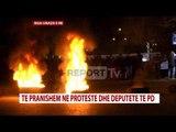 """""""Unaza e Re"""", banorët në protestë, u venë flakën gomave dhe kazaneve, bllokohet trafiku"""