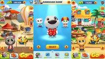 Talking Tom Gold Run - Frosty Tom Vs Hawaiian Hank Vs Ginger Gameplay Walkthrough