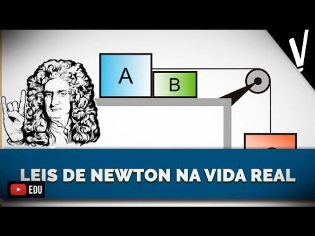 LEIS DE NEWTON NA VIDA REAL | Física