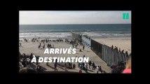 La caravane des migrants commence à arriver à la frontière avec les États-Unis