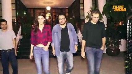 Kriti Sanon, Imtiaz Ali & Dinesh Vijan in Juhu Spotted