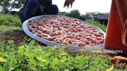 Finger CHICKEN!!! Chicken finger prepared by my Daddy ARUMUGAM - Village food factory