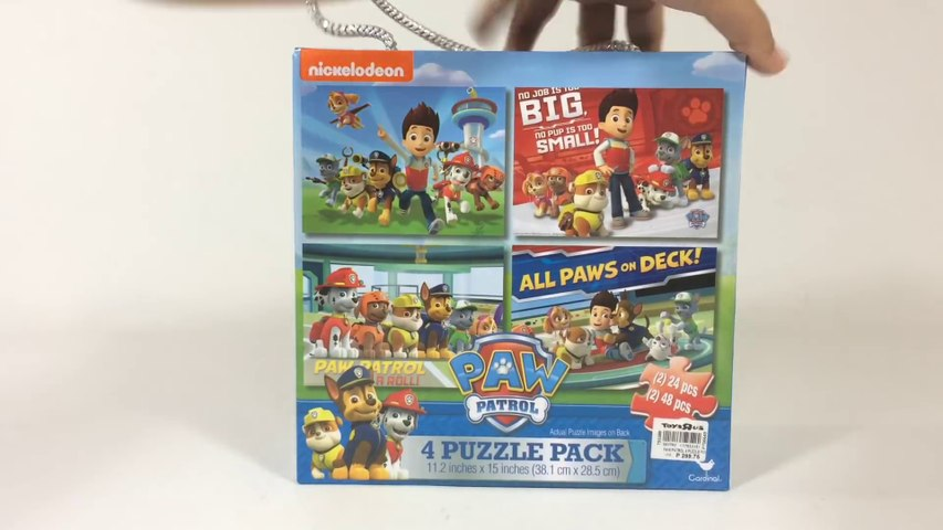 Paw Patrol 4 Puzzle Pack W Storage Box Chase Marshall Rubble Rocky Zuma Skye Keith S Toy Box