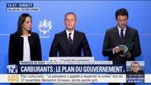 """Carburants : """"il ne s'agit pas de dévier à la première difficulté mais d'accompagner les Français"""" affirme François de Rugy"""