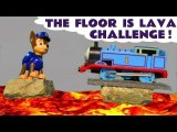 The Floor Is Lava! Can Paw Patrol Save the Day with Hurricane prank from Thomas & Friends? A fun toy story fro kids!