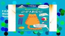 F.R.E.E [D.O.W.N.L.O.A.D] First Words: Japanese: 100 Japanese Words to Learn [P.D.F]