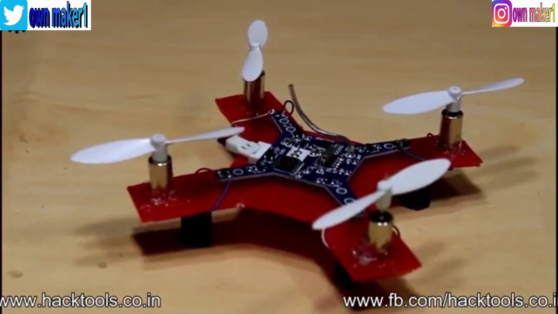 how to make a mini drone at homw by own maker1