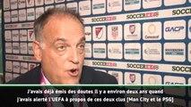 """Football Leaks - Tebas : """"Pas surpris concernant le PSG et Manchester City"""""""