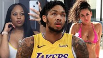 Brandon Ingram's GF Shades His Stripper Side Chick By Showing Off Her FloorSeats at Laker Game