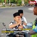 Dapat basikal selepas menangis ditahan polis trafik