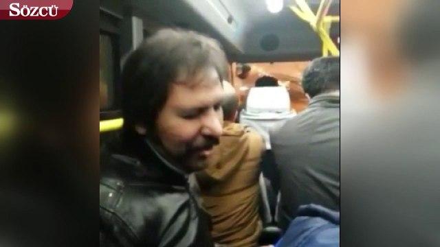 Gebze otobüsünde bir anda şarkı söylemeye başlayan kişi sosyal medyada gündem oldu