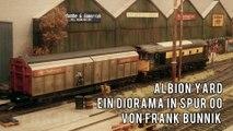 Diesellokomotiven und Rangierfahrten in einem britischen Güterbahnhof - Modellbahn in Spur 00 - Ein Film von Pennula von der Modellbahnausstellung Modelspoor Expo in Leuven in Belgien