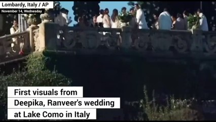 First Video Of Ranveer Deepika's Fairy Tale WEDDING Ceremony At Lake Como Italy-14th Nov 2018 - YouTube