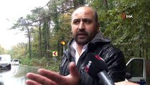 Bahçeköy'de feci kaza...Kaygan zeminde hızını alamayan araç yolcu otobüsü ile kafa kafaya çarpıştı