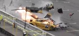 Un pilote d'une Lamborghini Gallardo victime d'un crash extrême pendant une course !