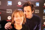 """l'équipe du film """"Ma mère est folle"""" au Festival du Film de Sarlat (Diane Kurys et Vianney)"""