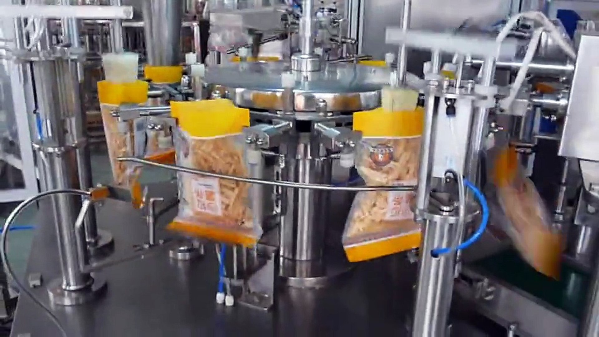 2018 Top Sale !!! Multi Heads Weighing Automatic Pouch Candy Potato Chips Snack Salt Sugar Packing M