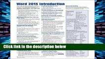 D.O.W.N.L.O.A.D [P.D.F] Microsoft Word 2013 Introduction Quick Reference Guide (Cheat Sheet of